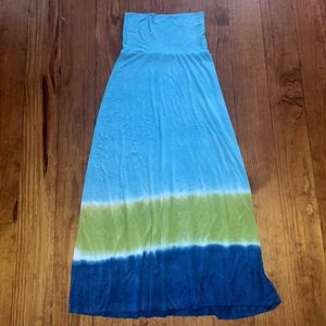 Lucky Brand Green Blue Tie-Dye Coverup Dress M/L